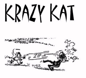 Krazy Kat and Ignatz mouse and brick