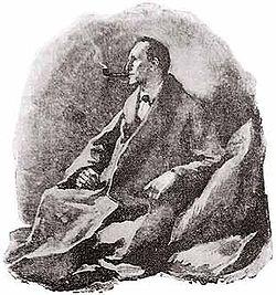 An original Sherlock Holmes illustration