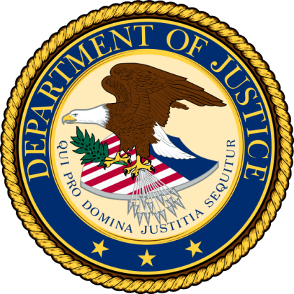 Department of Justice eagle logo
