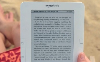 Kindle beach ebook ad - I reached across the table but he shrugged