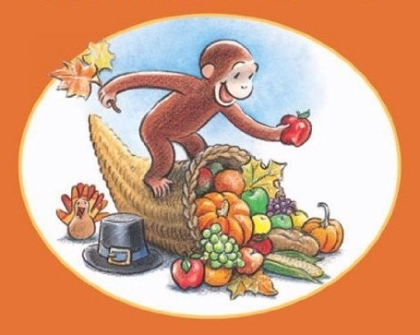 Happy Thanksgiving Curious George book and Kindle ebook cover