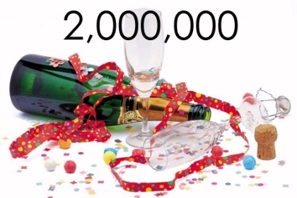 Celebrate millions with the number 2,000,000
